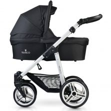 Venicci Soft White Chassis 3in1 Travel System-Black + FREE Winter Gloves & Changing Mat!