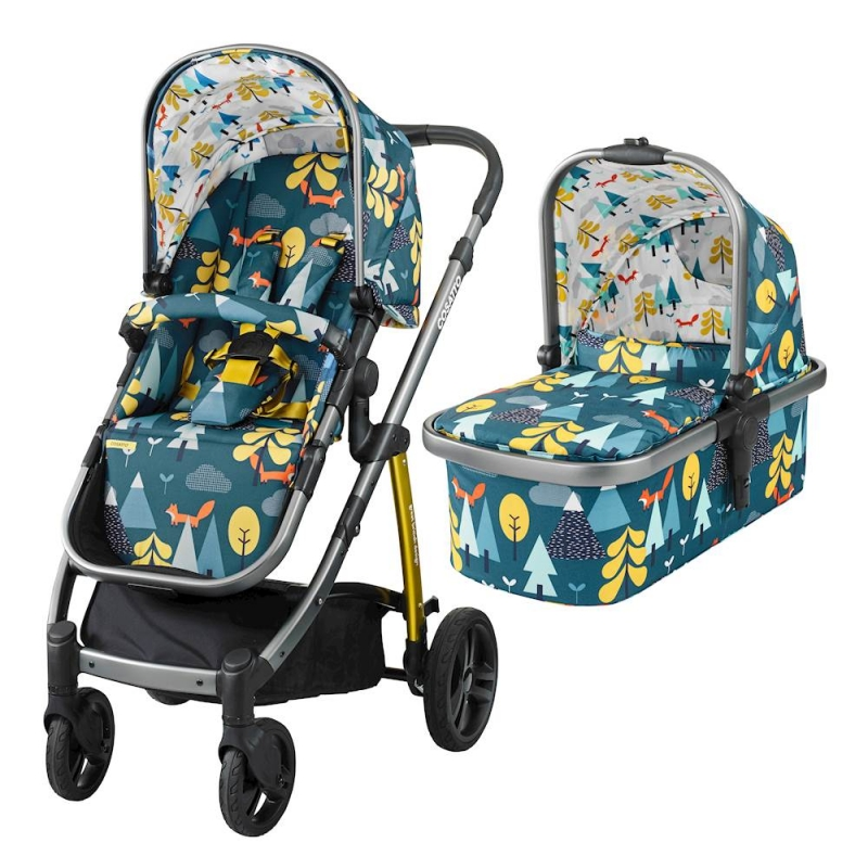 Cosatto Wow 3in1 Travel System with Port Car Seat-Fox Tale (New)