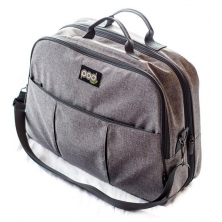 Bizzi Growin POD Travel Changing Bag-Linen Grey