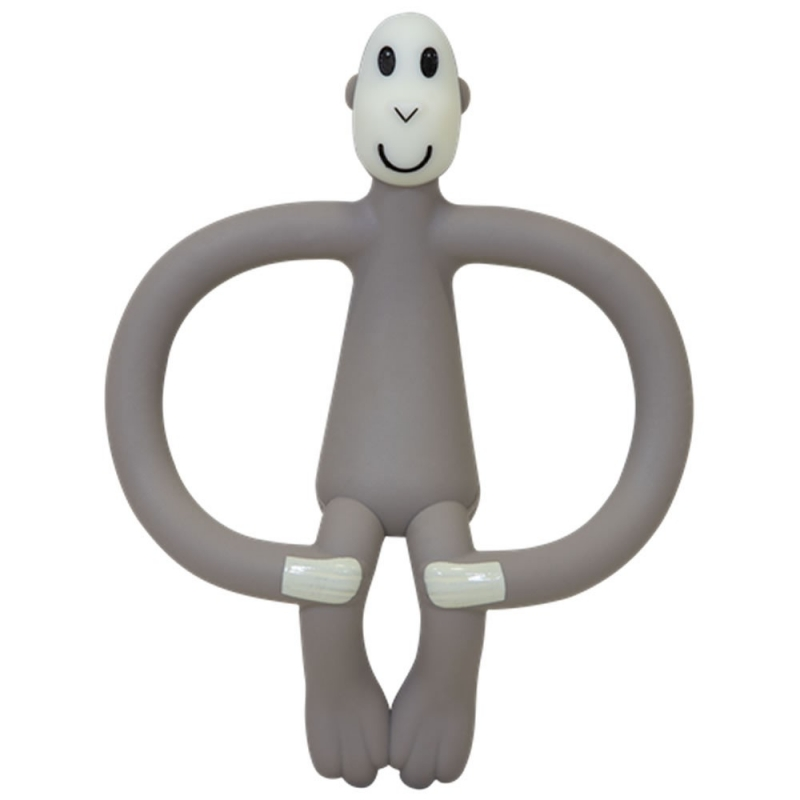Matchstick Monkey Teething Toy Grey
