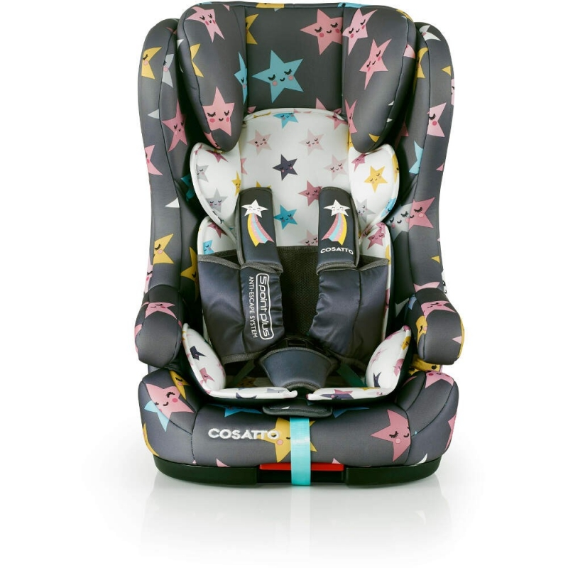 Cosatto Hubbub (5 Point Plus) 1/2/3 ISOFIX Car Seat-Happy Hush Stars (New)