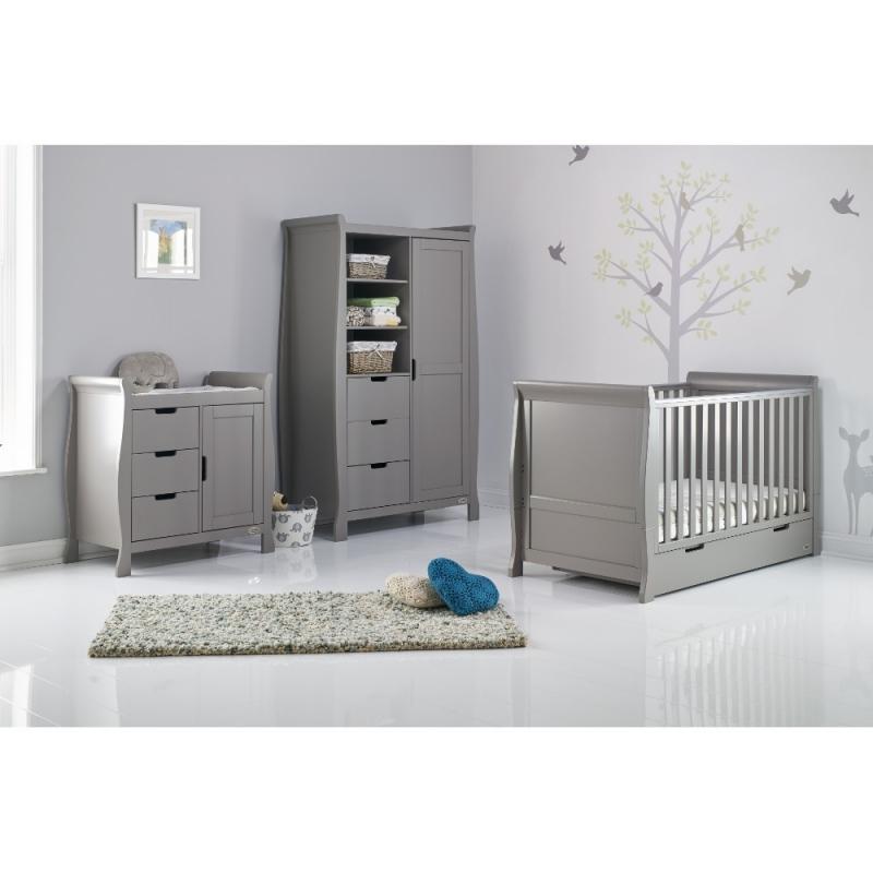 Obaby Stamford Sleigh 3 Piece Furniture Set-White (New)