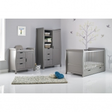 Obaby Stamford Classic Sleigh 3 Piece Furniture Roomset-Taupe Grey