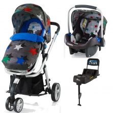 Cosatto Woop Isofix Travel System and Accessories Bundle-Grey Megastar (New)