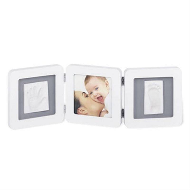 Baby Art Double Print Frame-White & Grey (NEW)
