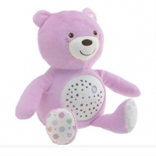 Chicco First Dreams Baby Bear Projector Night Light-Pink