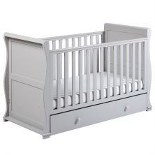 East Coast Alaska Sleigh Cot Bed-Grey + Underbed Drawer!