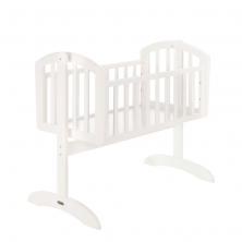 Obaby Sophie Swinging Crib-White + Half Price Crib Mattress Upgrade Worth £19.99!