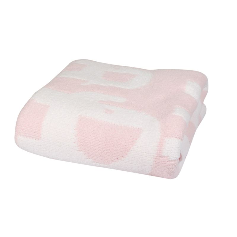 Bizzi Growin Elephant Chenille Blanket-Pink