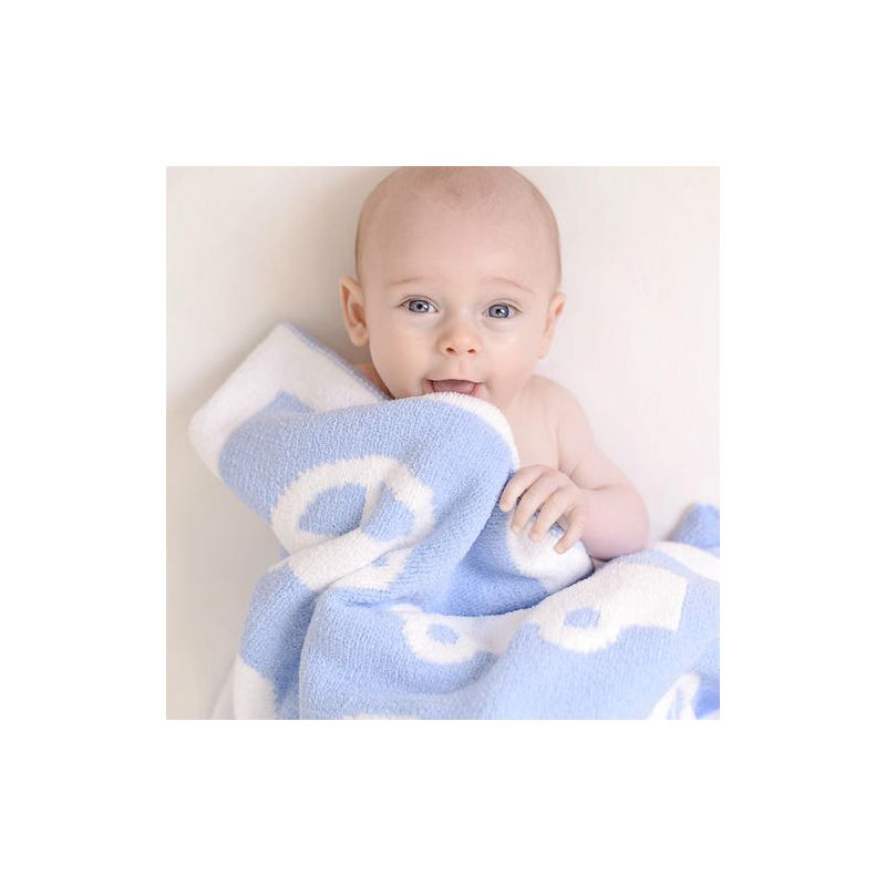 Bizzi Growin Cars Reversible Chenille Blanket