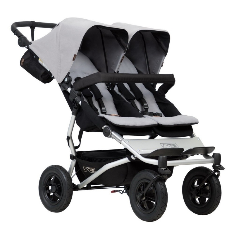 Mountain Buggy Duet V3 Twin Stroller-Silver