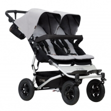 Mountain Buggy Duet V3 Twin Stroller-Silver + Free Fleece Blanket