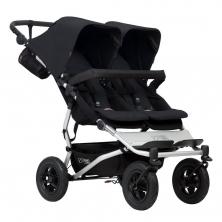 Mountain Buggy Duet V3 Twin Stroller-Black + Free Fleece Blanket