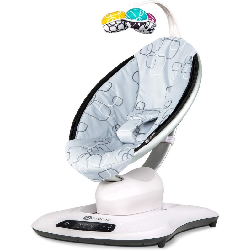 4moms MamaRoo 4.0 Rocker/Bouncer-Silver Plush