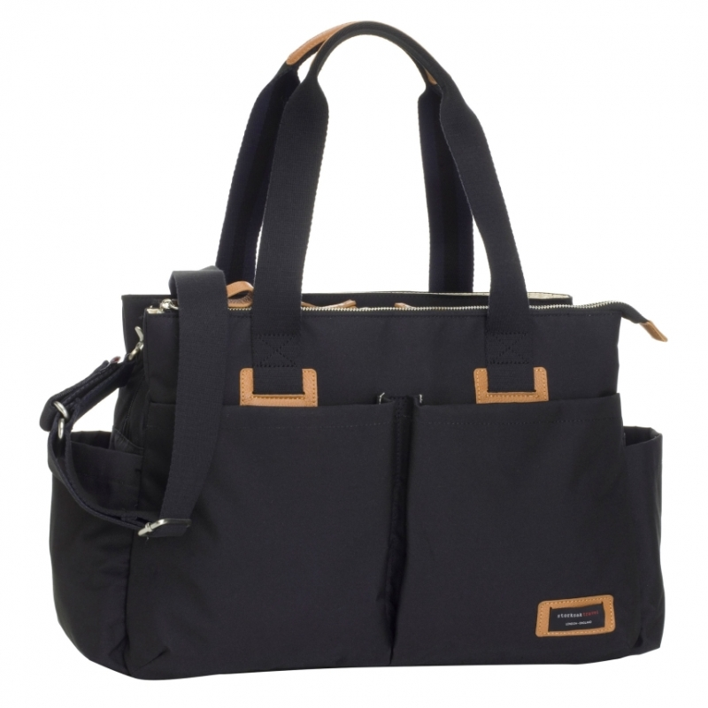 Storksak Shoulder Travel Changing Bag-Black (New)