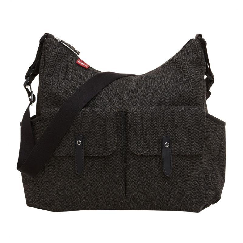 Babymel Frankie Changing Bag-Tweed Grey (New)