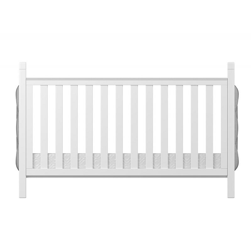 Babymore Velvet Deluxe Convertible Cot Bed-White (New)