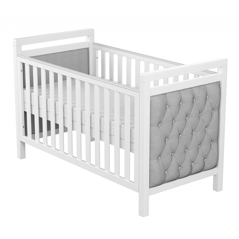 Babymore Velvet Deluxe Convertible Cot Bed-White (New)