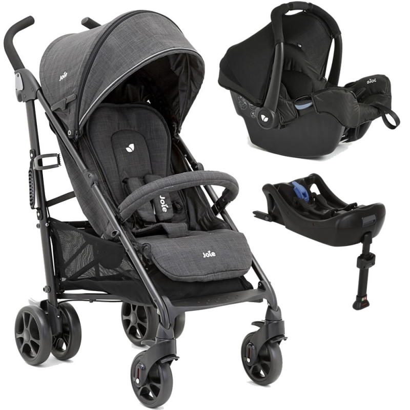 Joie Brisk Lx 2in1 Gemm Travel System With I-Base-Pavement (New)