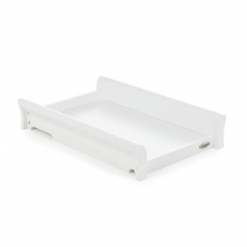 Obaby Stamford Sleigh Cot Top Changer-White (New)