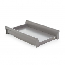 Obaby Stamford Sleigh Cot Top Changer-Taupe Grey (New)