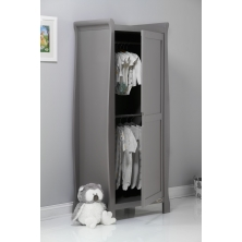 Obaby Stamford Sleigh Single Wardrobe-Taupe Grey (New)