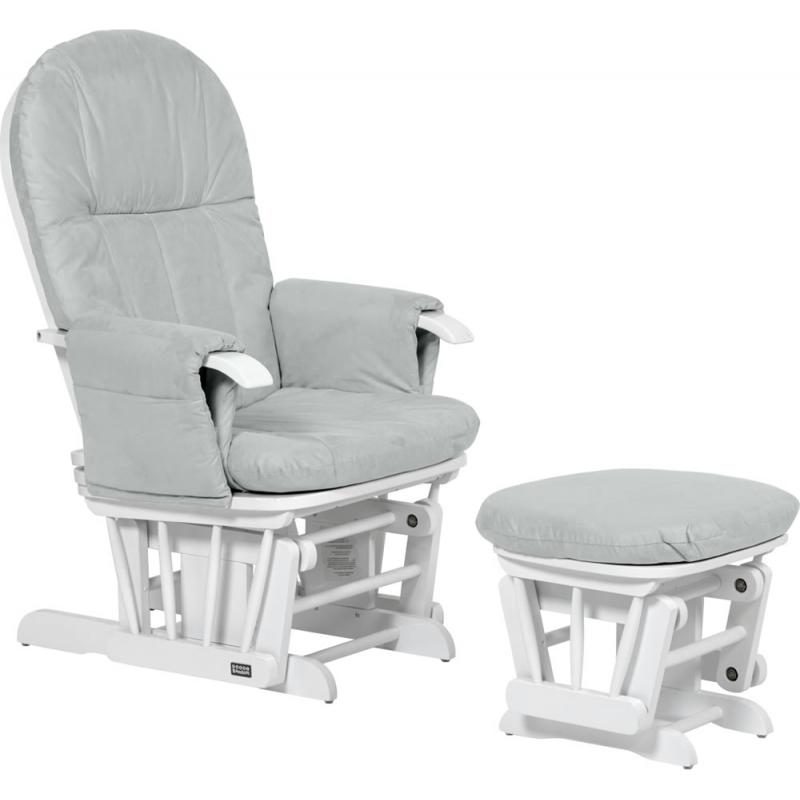 Tutti Bambini GC35 Recliner Glider Chair & Stool-White