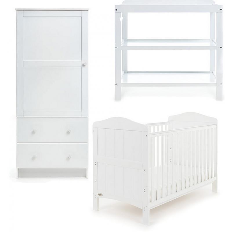 Obaby Whitby 3 Piece Furniture Set-White