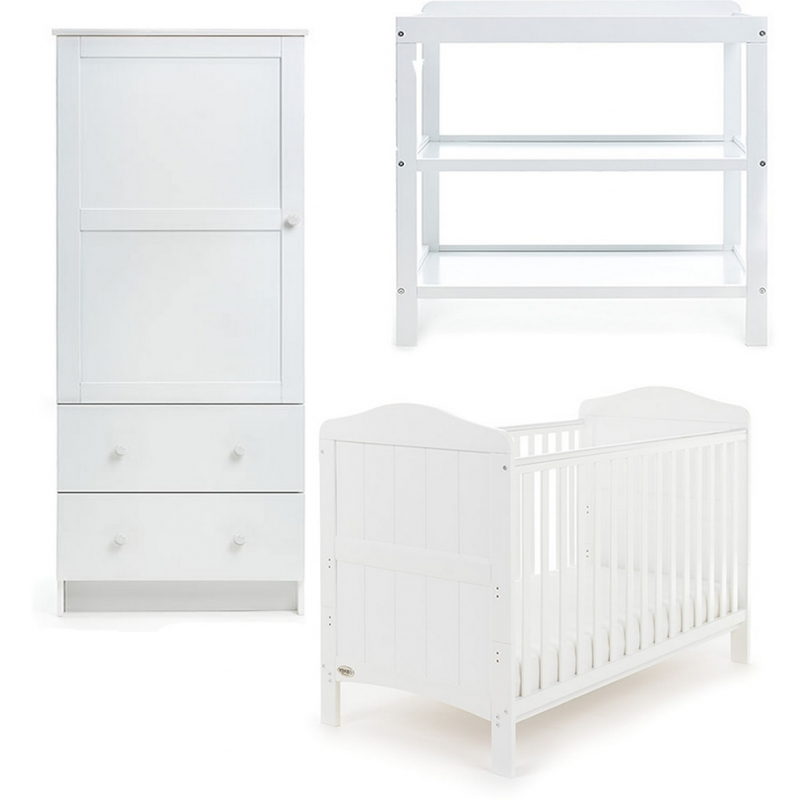 Obaby Whitby 3 Piece Furniture Set-White