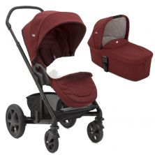 Joie Chrome DLX 2in1 Pram System-Cranberry