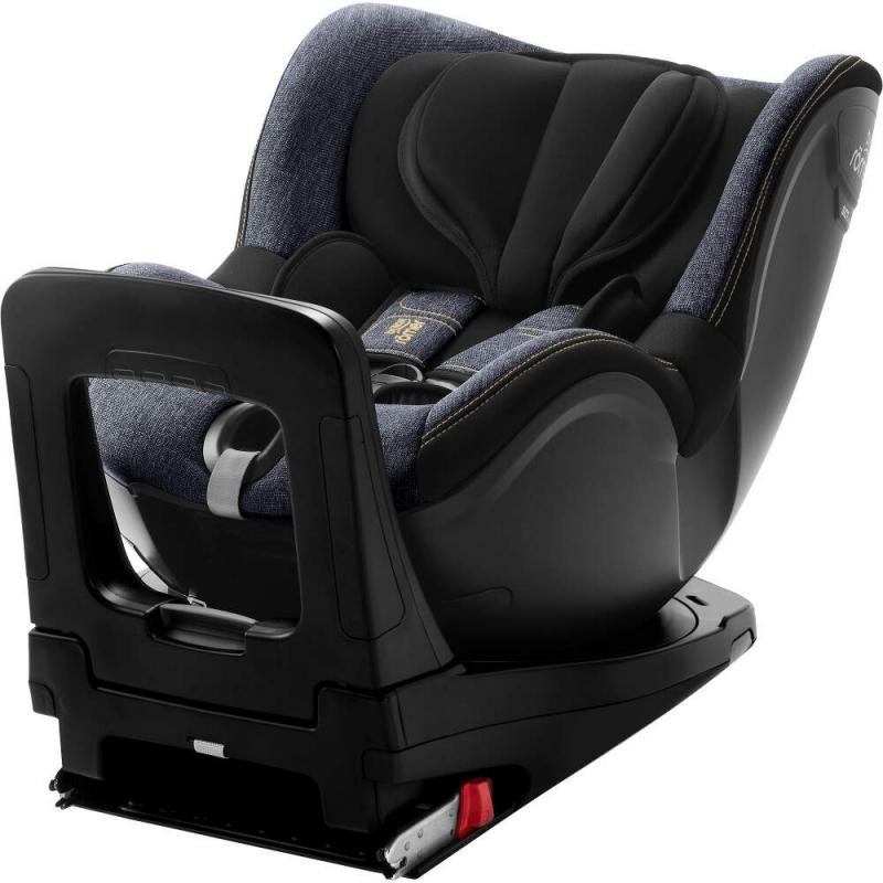 Britax Dualfix i-Size Group 0+/1 Car Seat-Blue Marble (New)