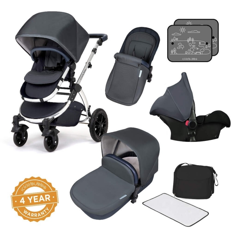 Ickle Bubba Stomp V4 All-In-One Travel System-Blueberry Chrome