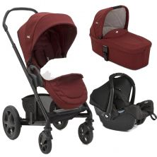 Joie Chrome DLX 3in1 Gemm Travel System-CRANBERRY