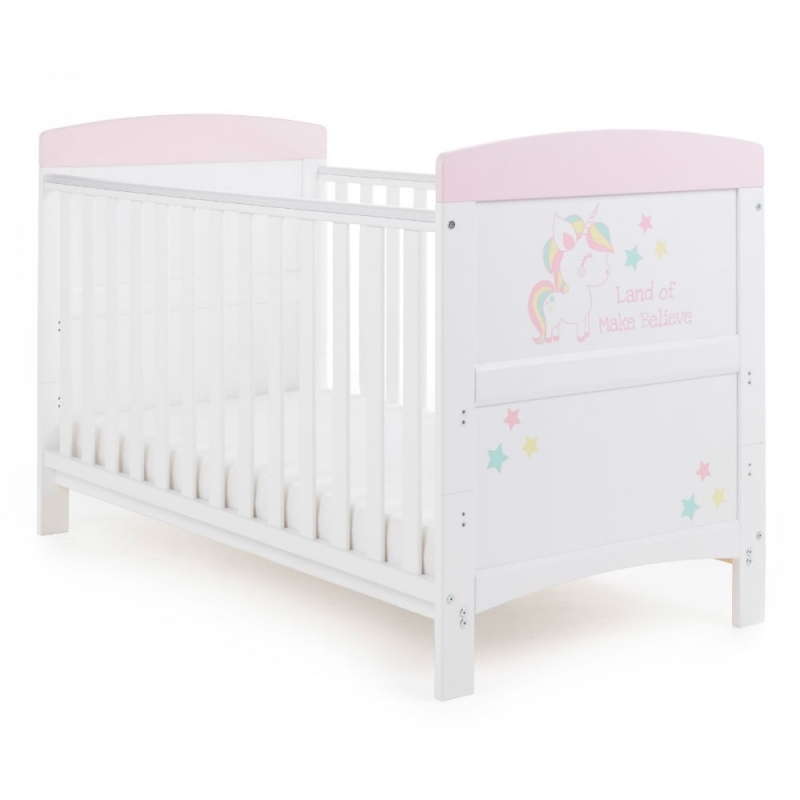 OBaby Grace Inspire Cot Bed-Unicorn (New 2018)
