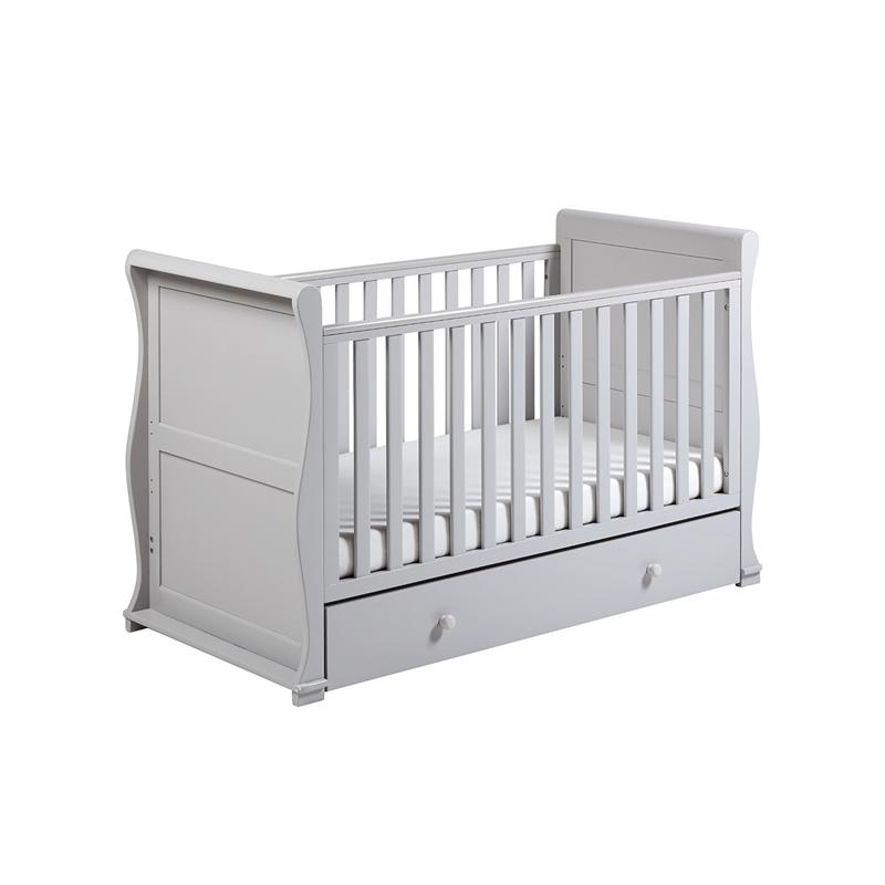 East Coast Alaska Sleigh Cot Bed-Grey + Underbed Drawer!