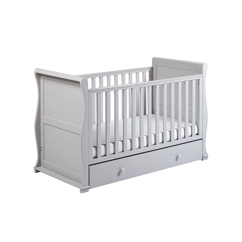 East Coast Alaska Sleigh Cot Bed-Grey + Half Price Mattress Deal!