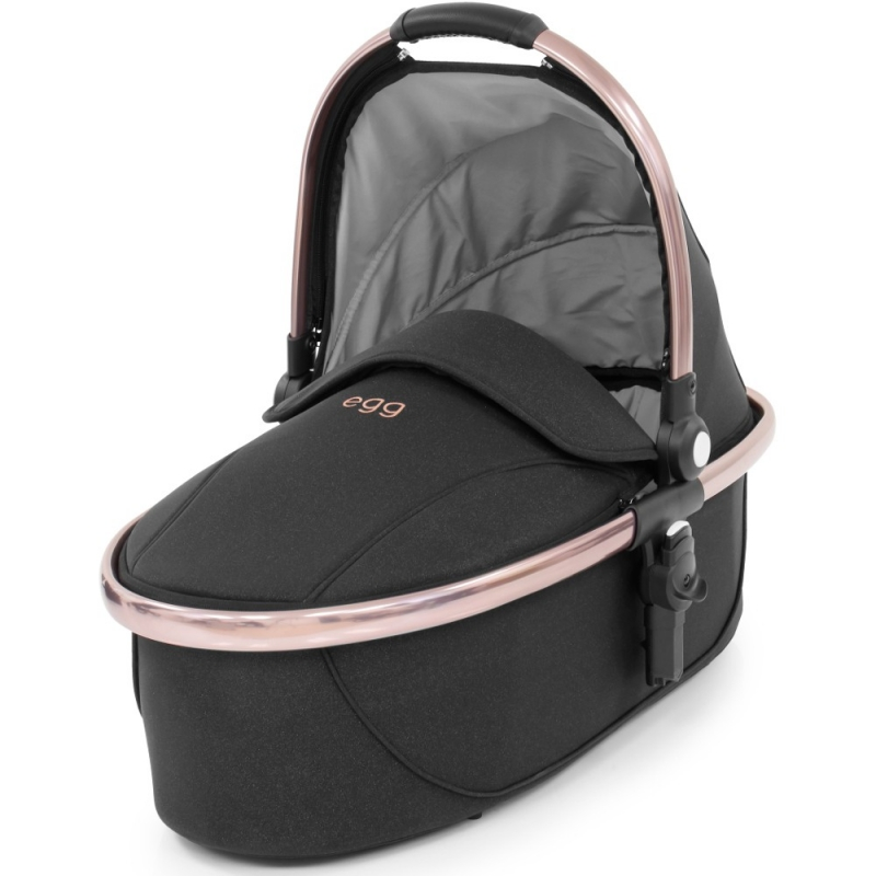 egg® Special Edition Carrycot With Rose Gold Chassis-Diamond Black