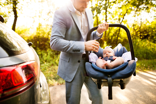 carrying a car seat