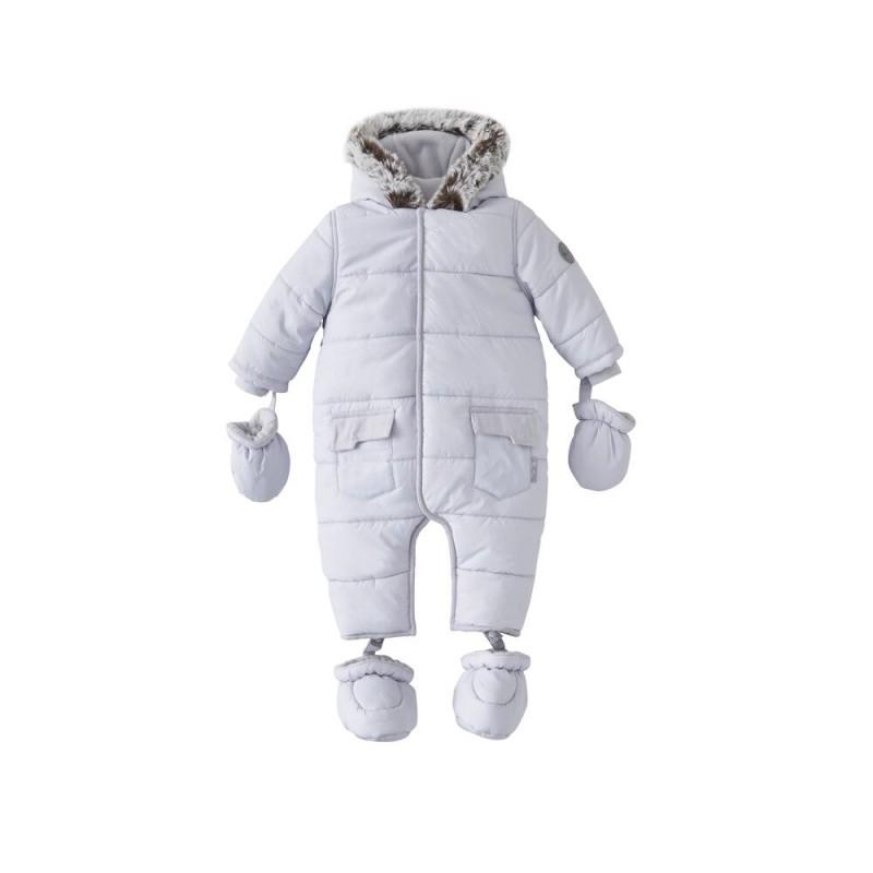 Silver Cross Unisex Classic Quilt Snowsuit- Grey 3- 6 Months