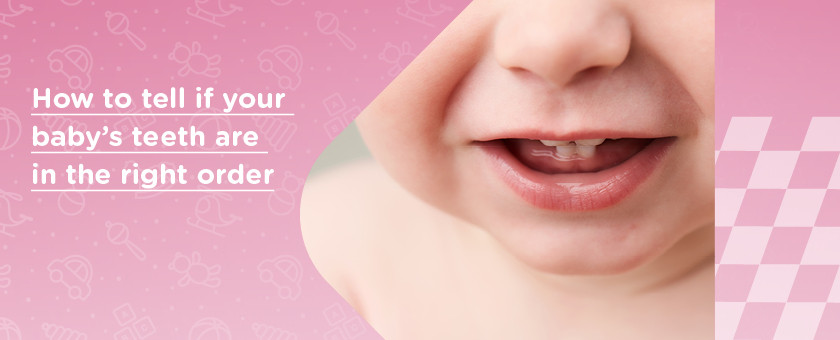 How to Tell if Your Baby's Teeth are in The Right Order