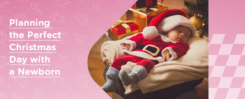 newborn baby dressed as santa