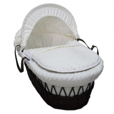 Kiddies Kingdom Deluxe Dark Finish Moses Basket