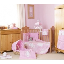 Obaby B Is For Bear Bedding (Pink)