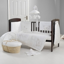 Obaby B Is For Bear Bedding (White)