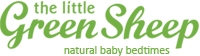 The Little Green Sheep Organic Jersey Cotton Baby Blanket-White